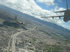 fliying over Bogota 2010