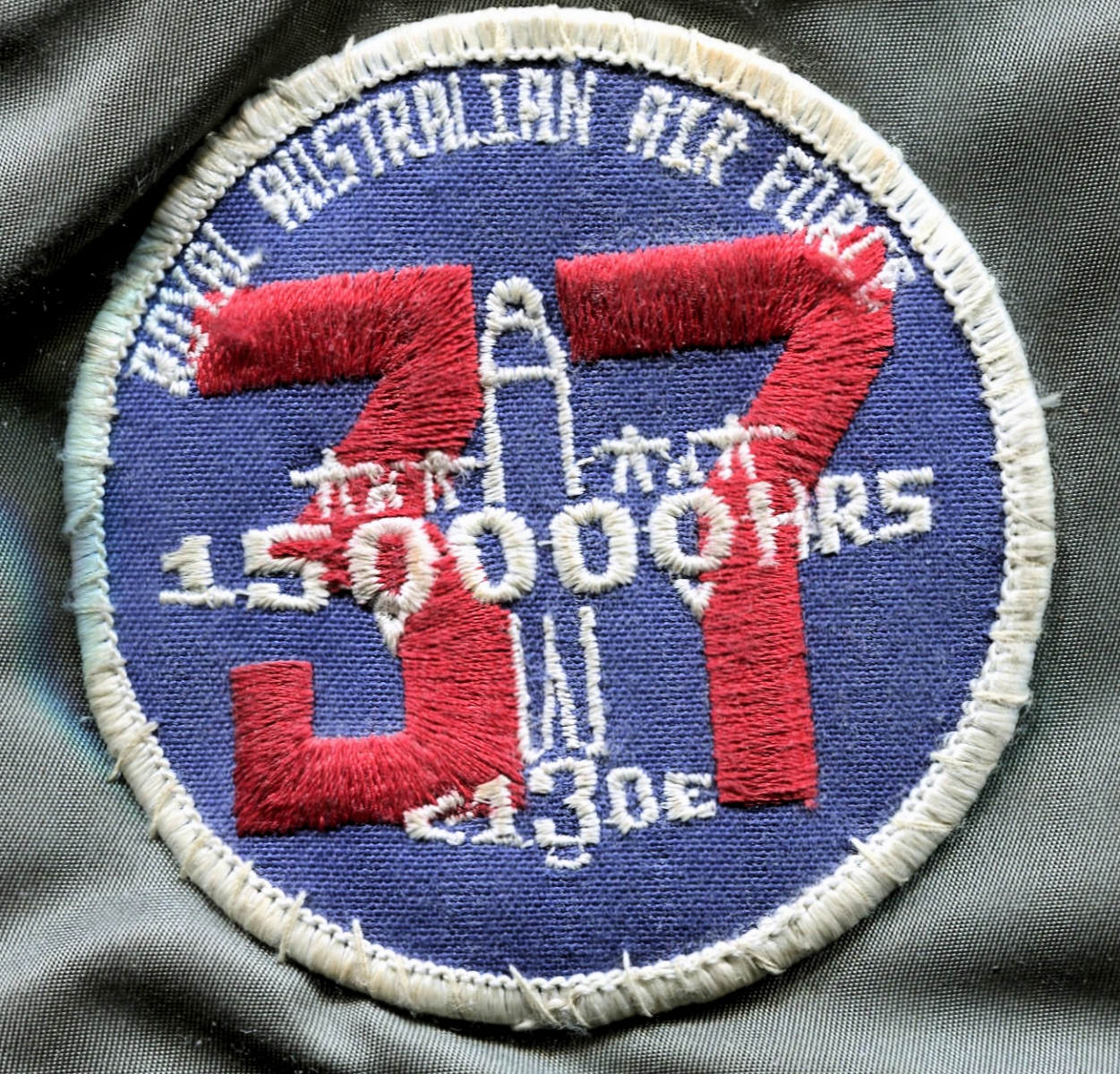 RAAF, Number 37 Squadron (C-130E) 150,000 Accident Free Hours Patch.