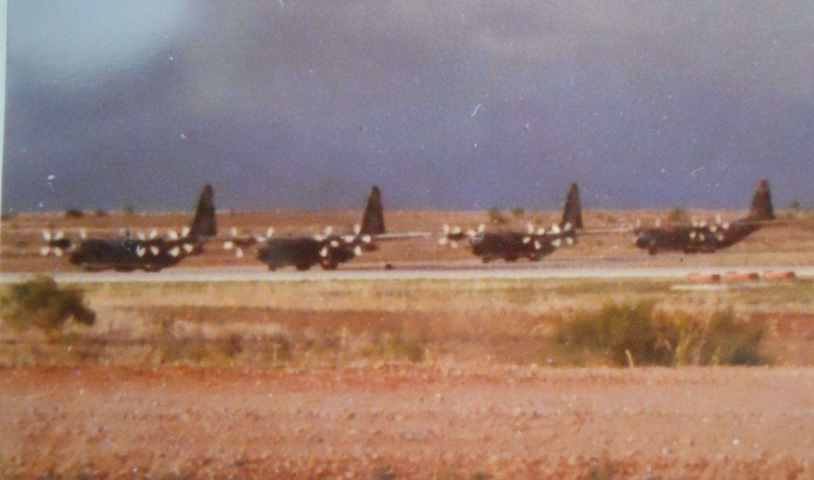 74- models at Dyess 1980 north runway ready for takeoff.