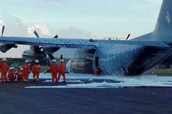 C-130 News: RMAF Hercules C130 aircraft makes belly landing in Labuan