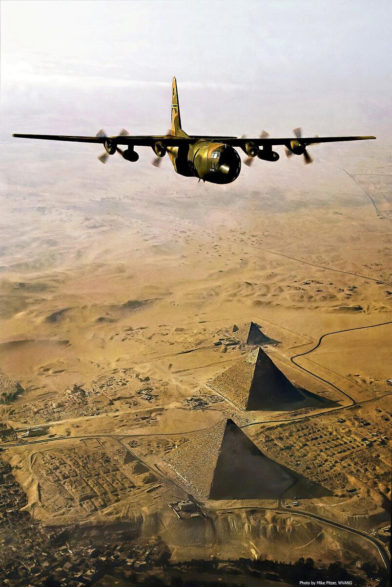 WVANG C130E Over Pyramids 1981